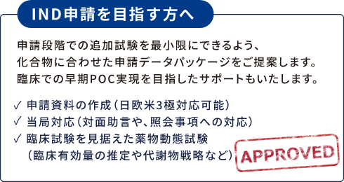 IND申請を目指す方へ